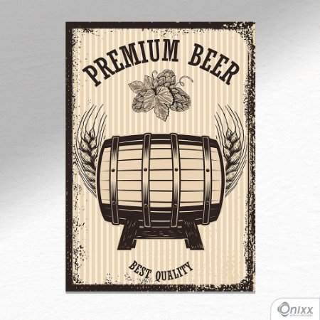 Placa Decorativa Premium Beer A4
