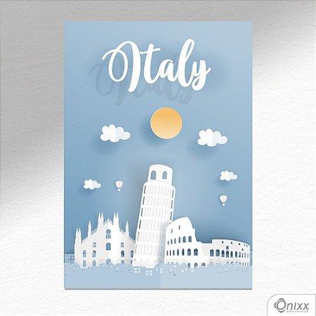 Placa Decorativa Série Papercut Italy A4