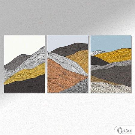 Kit de Placas Decorativas Waves A4