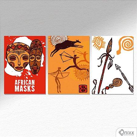 Kit de Placas Decorativas Africa A4