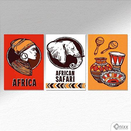 Kit de Placas Decorativas African Safari A4