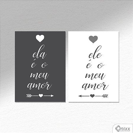 Kit de Placas Decorativas Ele e Ela A4