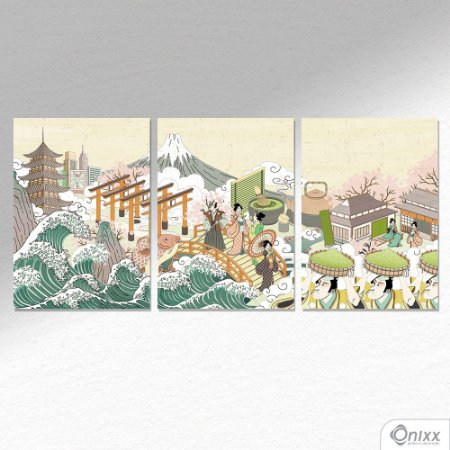 Kit de Placas Decorativas Japan A4