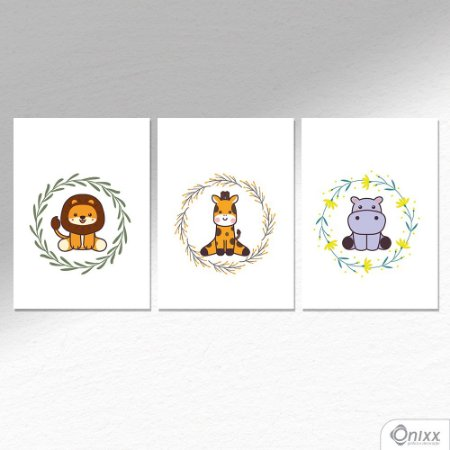 Kit de Placas Decorativas Animals A4