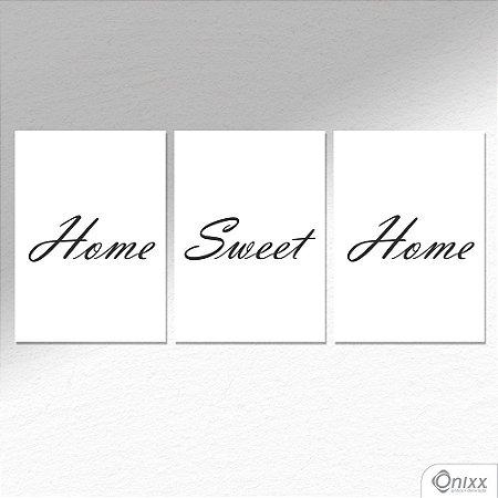 Kit de Placas Decorativas Home Sweet Home A4