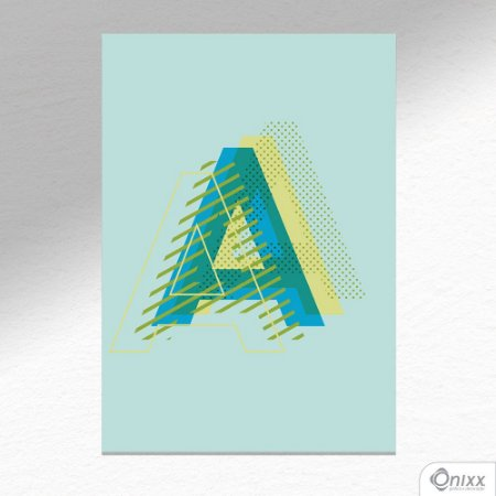 "Placa Decorativa Letra ""A"" A4"