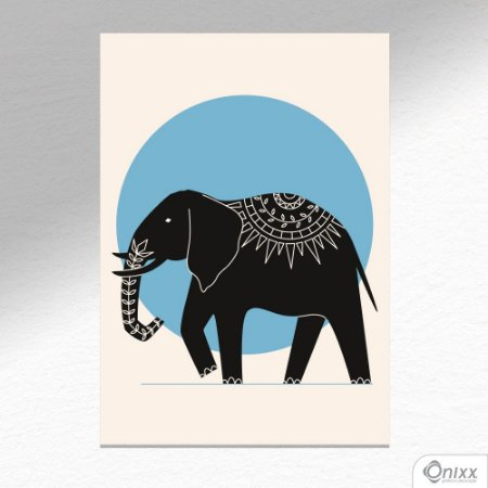 Placa Decorativa Série Natureza Artística ( Elephant ) A4