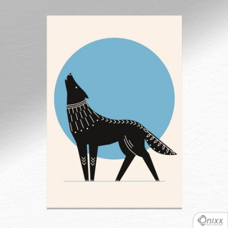 Placa Decorativa Série Natureza Artística ( Wolf ) A4