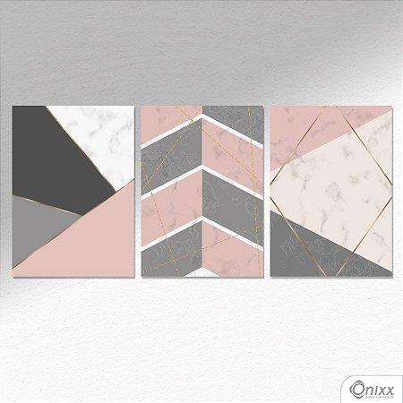Kit de Placas Decorativas Rosê, Gray & Gold A4