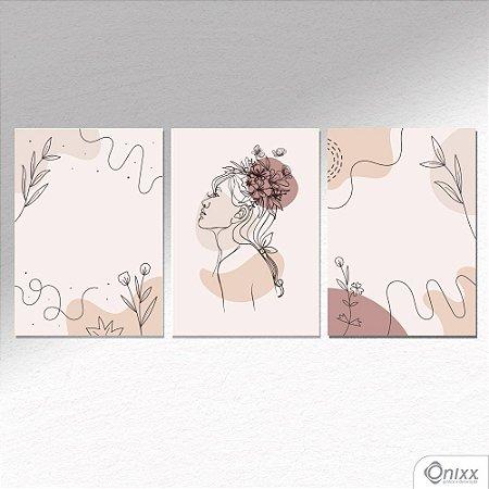 Kit de Placas Decorativas Beauty Flowers A4