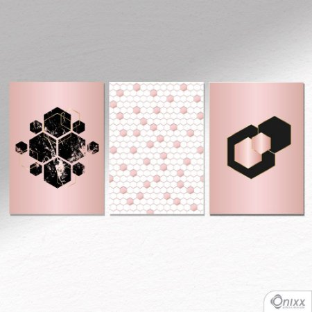 Kit de Placas Decorativas Rose Octagon A4