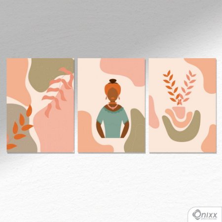Kit de Placas Decorativas Afro Cultura  A4