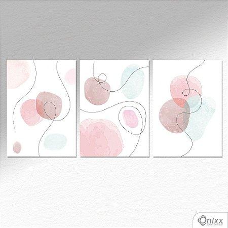 Kit de Placas Decorativas Aquarela  A4