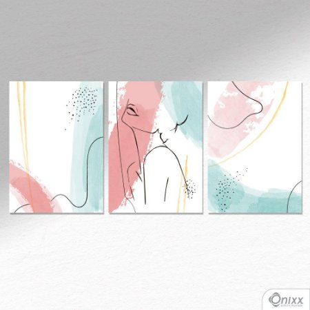 Kit de Placas Decorativas Expressão Feminina  A4