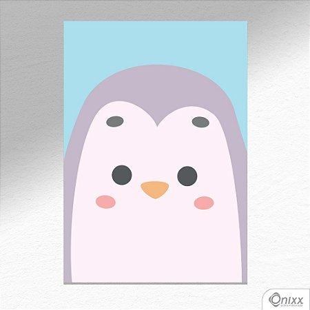 Placa Decorativa Série Animais Em Destaque ( Pinguim ) A4