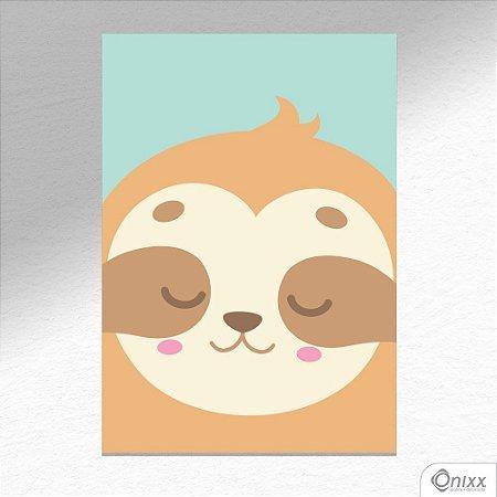 Placa Decorativa Série Animais Em Destaque ( Preguicinha ) A4
