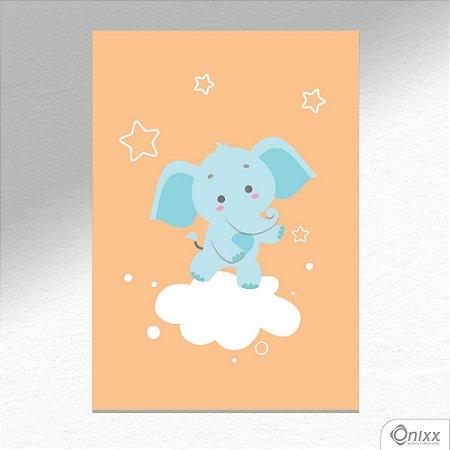 Placa Decorativa Série Animais Legais ( Elefante ) A4