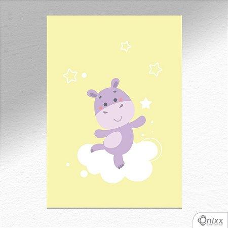 Placa Decorativa Série Animais Legais ( Hipopótamo ) A4