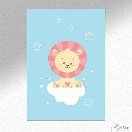 Placa Decorativa Série Animais Legais ( Leão ) A4