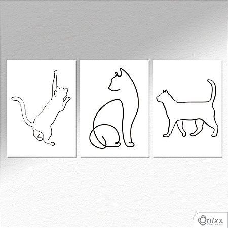 Kit de Placas Decorativas Cats A4