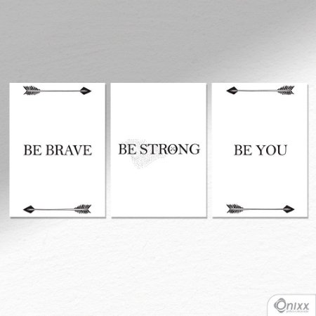 Kit de Placas Decorativas Brave A4