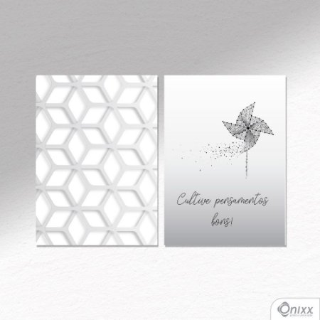 Kit de Placas Decorativas Cultive Pensamentos A4