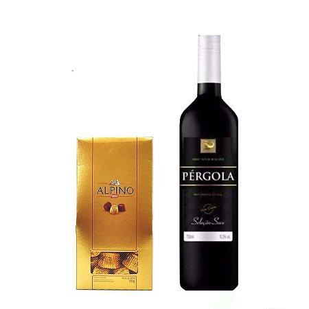 Vinho Tinto + Caixa com Alpino