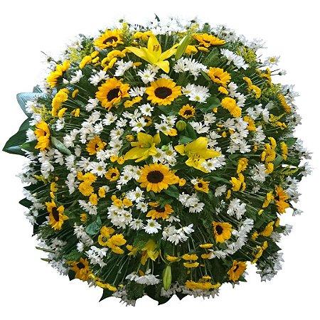 Coroa de Flores com Girassóis e Flores Selecionadas