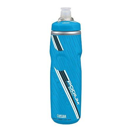 Garrafa Térmica Camelbak Podium Chill 750 ml Azul e Branco