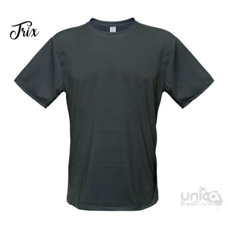 Camiseta Poliester - Cinza Chumbo