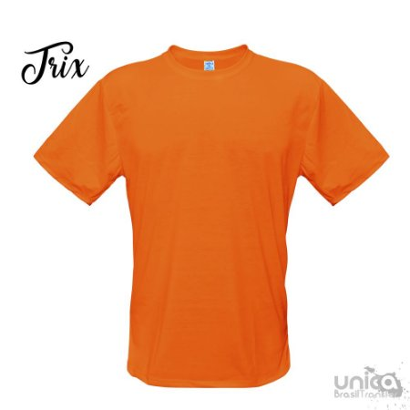 Camiseta Poliester - Laranja Fluorescente