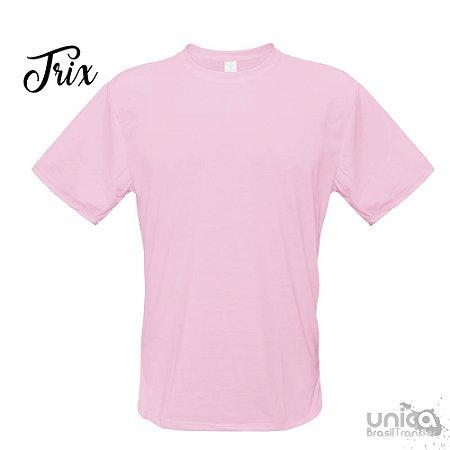 Camiseta Poliester - Rosa Bebe