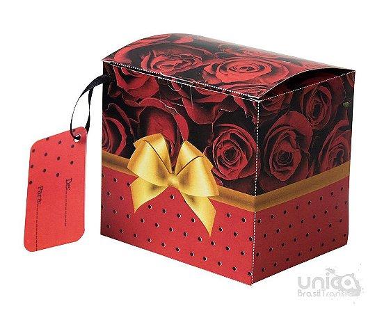 Caixinha Para Caneca Laço Vermelho - 12 Unidades