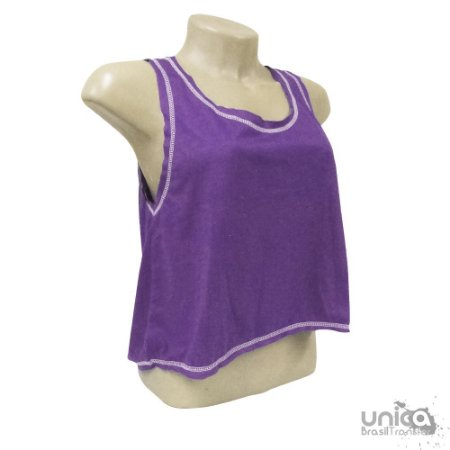 Cropped Poliester - Roxo