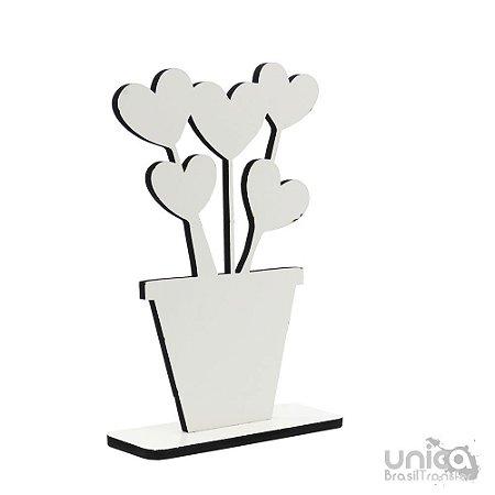 Placa de MDF - Vaso De Flor Resinada Para Sublimação
