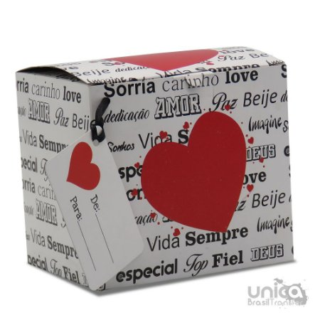 Caixinha Para Caneca Namorados Palavras - 12 Unidades