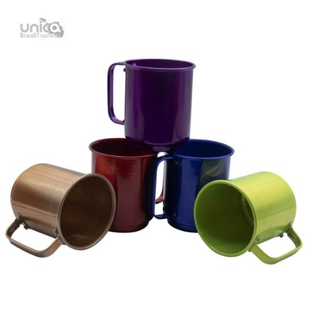Caneca De Aluminio Colours - 400ml