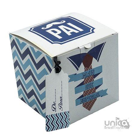 Caixinha Para Caneca Pai Azul  - 12 Unidades