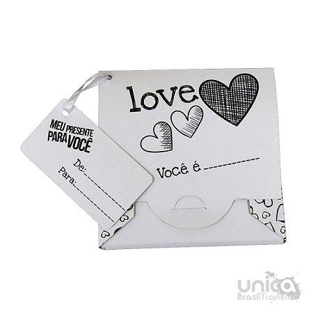 Caixinha Para Azulejo 10x10 Love - 10 Unidades