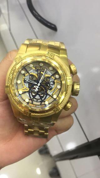 f8bd575127a Réplica de Relógio Invicta Bolt Zeus 12903 Dourado Skeleton - Anchor ...