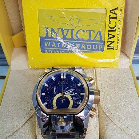 d51710e0b75 Réplica de Relógio Invicta Bolt Zeus Magnum Prata Dourado Lançamento ...