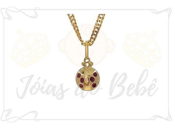Pingente de Ouro Joaninha - Encanto Semijoias 664c89b272