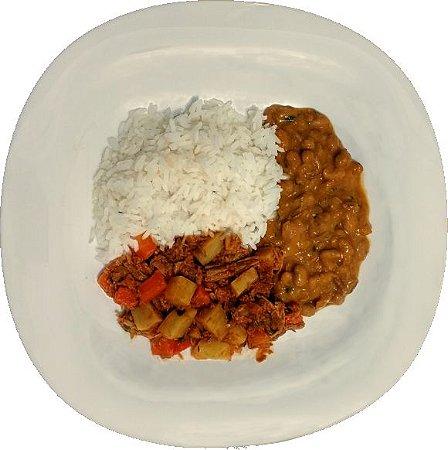 Carne de Panela, Arroz branco e Feijão carioca