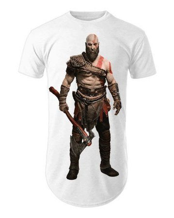 Camiseta Oversized Longline God of War Kratos