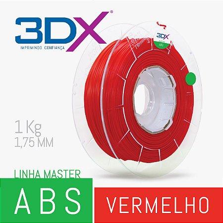 Filamento ABS 1kg 1,75 Vermelho