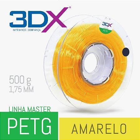 Filamento PETG 500g 1,75 Amarelo Translucido
