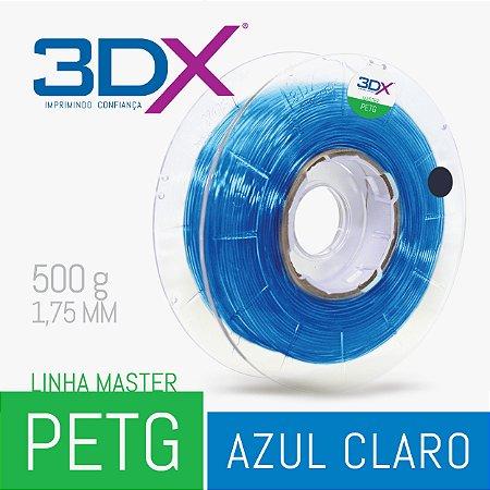 Filamento PETG 500g 1,75 Azul Claro Translucido