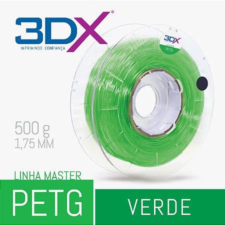 Filamento PETG 500g 1,75 Verde Translucido