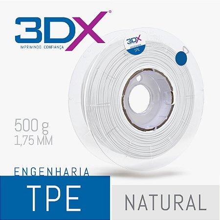 Filamento TPE Flexível D40 500g 1,75 Branco (Firme)