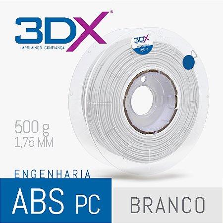 Filamento ABS PC 500g 1,75 Branco
